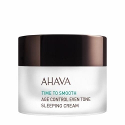Ahava Time To Smooth Age Control Even Tone Sleeping Cream - Антивозрастной ночной крем для выравнивания цвета кожи, 50 мл