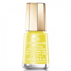 Mavala - Лак для ногтей тон 102 Кибер желтый/Cyber Yellow, 5 мл