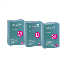 Nouvelle Volumizing modifier + Neutralizer Kit 0 - Лосьон для завивки жестких волос + нейтрализатор (набор), 120*2 мл. Общий объем: 240 мл