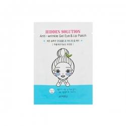 A'PIEU Hidden Solution Anti-wrinkle Gel Eye & Lip Patch - Антивозрастные гелевые патчи для глаз и губ, 1 пара