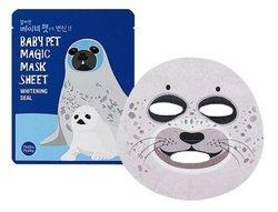 Holika Holika Baby Pet Magic Mask Sheet (Whitening Seal) - Тканевая маска-мордочка отбеливающая (Тюлень), 22 мл