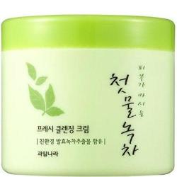 Welcos Green Tea Fresh Cleansing Cream - Очищающий крем с экстрактом зеленого чая, 300 мл
