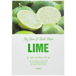 A'Pieu My Skin-Fit Sheet Mask Lime – Тканевая маска с экстрактом лайма 25г