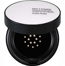 Holika Holika Face 2 Change Volume Fit Strobing Pumping Foundation 21 SPF 50+ PA+++ - Кушон для стробинга SPF50+ PA+++, тон 21, светлый беж