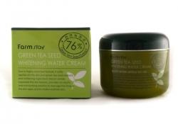 FarmStay Green Tea Seed Whitening Water Cream -  Крем увлажняющий выравнивающий с семенами зеленого чая, 100 гр