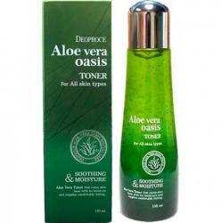 Deoproce Aloe Vera Oasis Toner - Тонер для лица с экстрактом алое вера, 150 мл