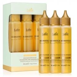 La'dor Dermatical Active Ampoule - Активная сыворотка для чувствительной кожи головы и тонких волос, 6 шт по 30 мл