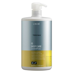 Lakme Teknia Deep care shampoo - шампунь восстанавливающий, для сухих или поврежденных волос 1000 мл
