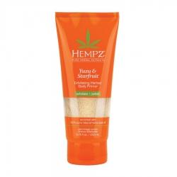 Hempz Yuzu & Starfruit Exfoliating Herbal Body Primer - Скраб подготавливающий перед загаром  Юдзу и Карамбола, 200 мл