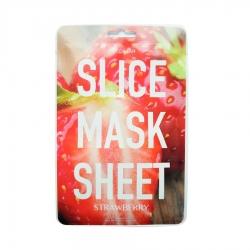Kocostar Slice Mask Sheet STRAWBERRY - маски в виде кружочков клубники, пропитаны экстрактом клубники, 20 мл