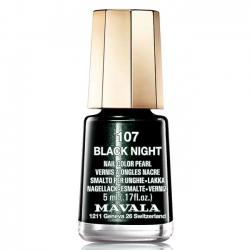 Mavala - Лак для ногтей тон 107 Черная ночь/Black Night, 5 мл