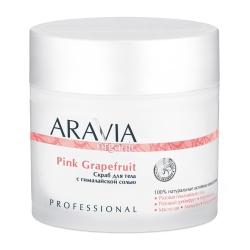 Aravia Professional Organic - Скраб для тела с гималайской солью Pink Grapefruit, 300 мл