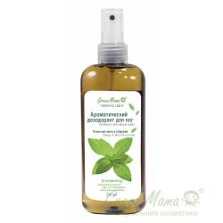 Green Mama Формула тайги - Ароматический дезодорант для ног Перечная мята и шалфей, 250 мл