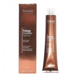 Kapous Fragrance Free Non Ammonia Magic Keratin - Крем-краска для волос, NA 4.18 коричневый лакричный, 100 мл