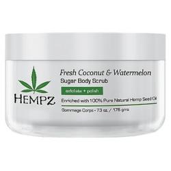 Hempz Fresh Coconut Watermelon Sugar Body Scrub - Скраб для тела Кокос и Арбуз, 176 г