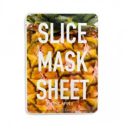 Kocostar Slice Mask Sheet Pineapple - маски в виде ломтиков ананаса, пропитаны экстрактом ананаса, 20 мл