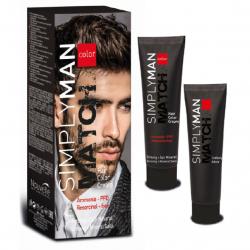 Nouvelle simply man match hair color cream №3.1 - Набор для окрашивания волос темно-каштановый пепельный