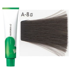 Lebel Cosmetics Materia g - Перманентная краска для седых волос, A-8 светлый блонд пепельный 120 гр
