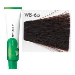 Lebel Cosmetics Materia g - Перманентная краска для седых волос, WB-6 тёмный блонд тёплый 120 гр