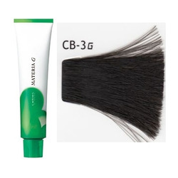Lebel Cosmetics Materia g - Перманентная краска для седых волос, CB-3 тёмный шатен холодный 120 гр