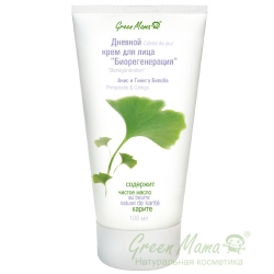 Green Mama - Дневной крем для лица Биорегенерация анис и гинкго билоба, 100 мл