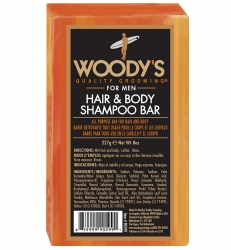 Woody's Hair and Shampoo Body bar - Мыло, 85 гр