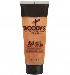 Woody's Hair and Body Wash - Шампунь, кондиционер и гель для душа, 296 мл