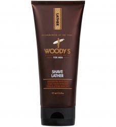 Woody's Shave Lather - Крем-пена для бритья на основе масла Алоэ, 177 мл