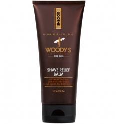 Woody's Shave Relief Balm - Бальзам после бритья на основе масла Алоэ, 177 мл