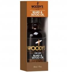 Woody's Beard and Tattoo Oill - Масло для ухода за бородой и тату, 30 мл