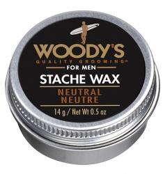 Woody's Neutral Stache Wax - Классический воск для усов, 14 гр