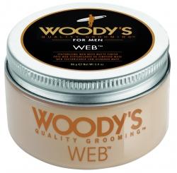 Woody's Web - Паста со средней фиксацией и низким уровнем блеска для укладки волос, 96 гр