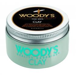 Woody's Clay - Формирующая глина сильной фиксации с низким уровнем блеска для укладки волос, 96 гр