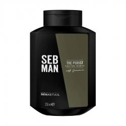 Seb Man THE PURIST - Очищающий шампунь для волос, 250мл