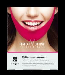 Avajar Perfect V lifting premium mask - Маска лифтинговая, розовая 1 шт