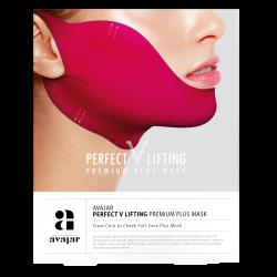 Avajar Perfect V lifting premium plus mask - Маска лифтинговая Плюс, розовая 1 шт