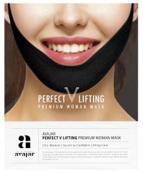Avajar Perfect V lifting premium woman black mask - Маска лифтинговая женская, черная 1 шт