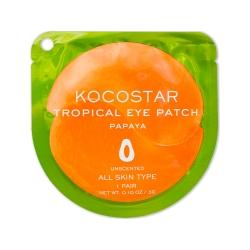 Kocostar Tropical Eye Patch (Papaya) Single - Гидрогелевые патчи для глаз Тропические фрукты, Папайя (2 патча/1 пара) 3г