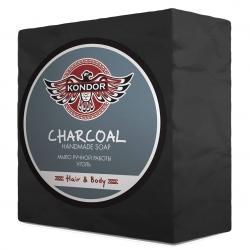 Kondor Hair&Body - Мыло ручной работы Уголь, 140г+/-5г