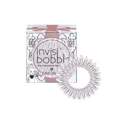 Invisibobble ORIGINAL Princess of the Hearts - Резинка-браслет для волос искристый розовый с подвесом, 3шт