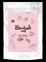 7 Days Illuminate Me Rose Girl - Мерцающий кофейный скраб для тела, 200 г
