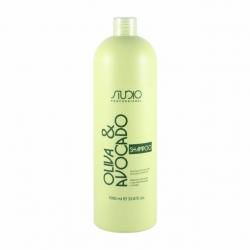 Kapous Professional Studio Oliva & Avocado Shampo  - Шампунь для волос с маслами Авокадо и Оливы 1000 мл