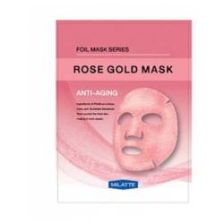 Milatte Rose Gold Mask Anti-Aging - Маска на тканевой основе для лица антивозрастная, 23 гр