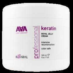 Kaaral Keratin Royal Jelly Cream AAA - Питательная крем-маска для восстановления окрашенных и химически обработанных волос 500 мл