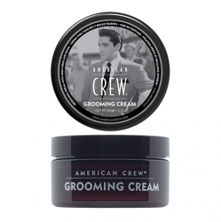 American Crew Grooming Cream - Крем с сильной фиксацией и высоким уровнем блеска для укладки волос и усов, 85 г