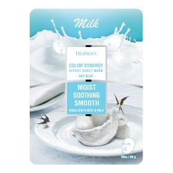 Deoproce Color Synergy Effect Sheet Mask Sky Blue - Маска тканевая молочная, 20 г