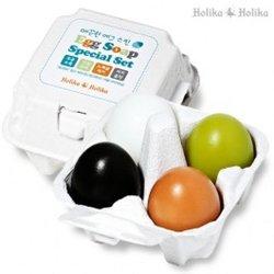 Holika Holika Egg Soap Special Set - Набор мыло (уголь+глина+зеленый чай+ белок яйца), 50г*4