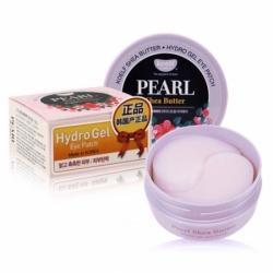KOELF Hydro Gel Pearl & Shea Butter Eye Patch - Гидрогелевые патчи для области вокруг глаз с маслом ши и жемчужной пудрой, 60 шт