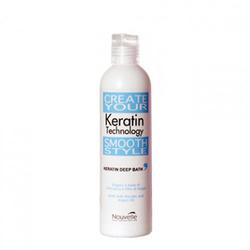 Nouvelle Keratin Technology Deep Bath with Argan Oil - Кератиновый шампунь с аргановым маслом, 500 мл