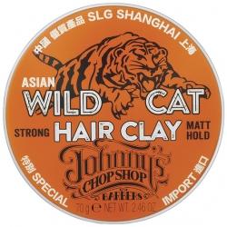 Johnny's Chop Shop Wild Cat Hair Sculpting Clay - Матирующая глина для волос, 70 г